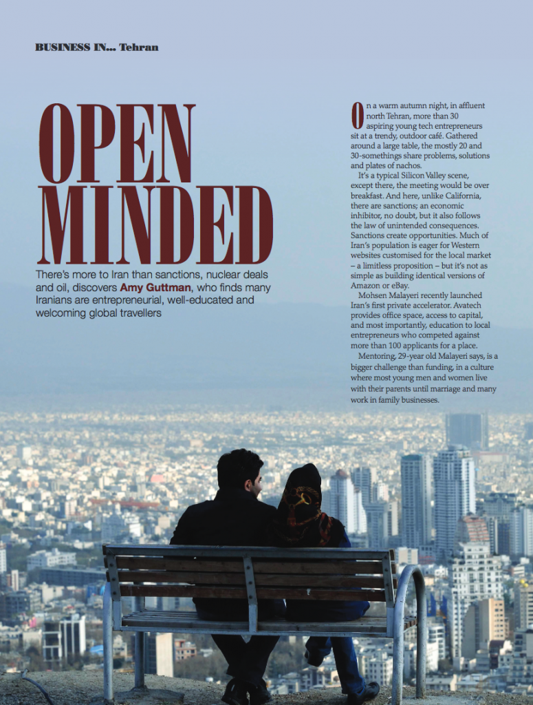 Open Minded Tehran Article Amy Guttman